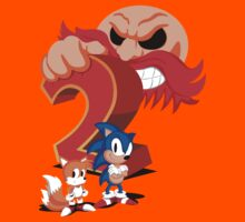Sonic The Hedgehog 2 Cover Art Kids Tee