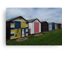 Beach Huts, Dovercourt Canvas Print