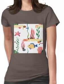 Sea pattern Womens Fitted T-Shirt