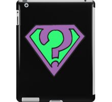 Riddle me this, riddle me that... (V2) iPad Case/Skin