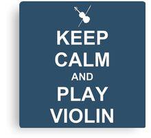 Play Violin (White) Canvas Print
