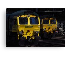Freightliner Engines Canvas Print