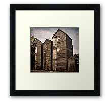 Fishermens Huts at Hastings, East Sussex Framed Print