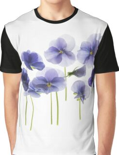backlit pansy petals on a lightbox  Graphic T-Shirt