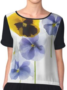 backlit pansy petals on a lightbox  Chiffon Top