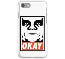OBEY GIANT - OKAY Shepard Fairey iPhone Case/Skin