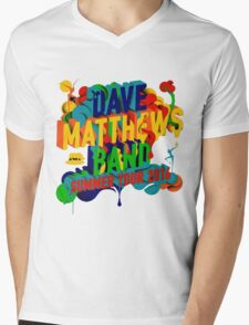 SUMMER TOUR 2016 DAVE MATTHEWS BAND Mens V-Neck T-Shirt