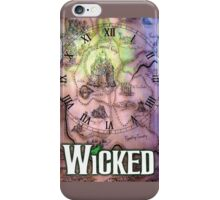 Wicked the musical OZ map iPhone Case/Skin