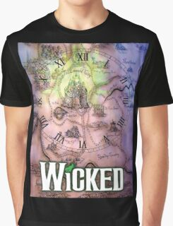 Wicked the musical OZ map Graphic T-Shirt