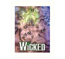 Wicked the musical OZ map Art Print