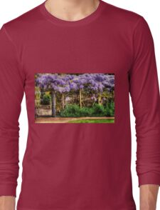 Wall of Wisteria HDR Long Sleeve T-Shirt