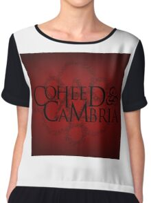 THE NEW COHEED & CAMBRIA FONT LOGO Chiffon Top