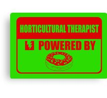 Horticulture therapist powered by Canvas Print