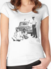 Bernie Sanders Civil Rights Protest 1963 Women's Fitted Scoop T-Shirt