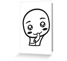 face head sweet cute little baby child snake comic cartoon kawaii Greeting Card