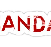 scandal logo Sticker