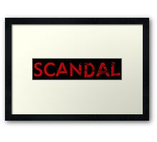 scandal logo Framed Print