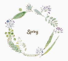 Spring No.2 wreath Baby Tee