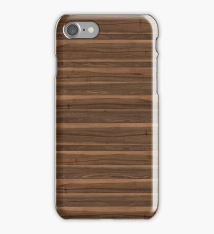 Wood - walnut european iPhone Case/Skin
