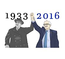 Franklin D. Roosevelt & Bernie Sanders | 1933 2016 Large Years Photographic Print