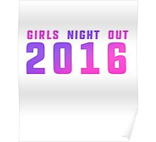 Girls night out 2016 bachelorette party  Poster