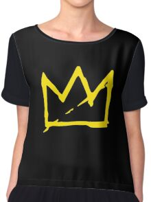 Yellow BASQUIAT CROWN Chiffon Top