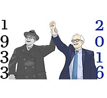 Franklin D. Roosevelt & Bernie Sanders | 1933 2016 Vertical Years Photographic Print