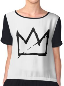 Basquiat Crown Chiffon Top