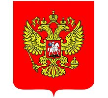 RUSSIA, RUSSIAN, SHIELD, Coat of Arms of the Russian Federation Photographic Print