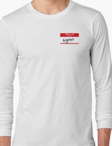 Uh- His first name is Agent Long Sleeve T-Shirt