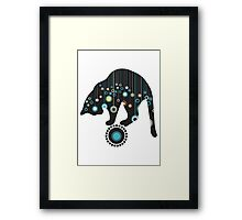 Black Magical Cat Vector Art Framed Print