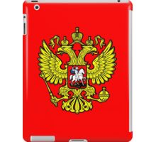 RUSSIA, RUSSIAN, Coat of Arms of the Russian Federation, ON red iPad Case/Skin
