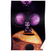 Cat and Mouse on Swiss Cheese Poster
