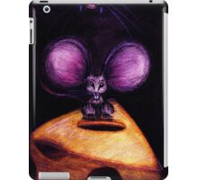 Cat and Mouse on Swiss Cheese iPad Case/Skin