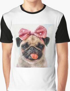 Pug Bleh Crayon Painting Graphic T-Shirt