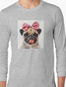 Pug Bleh Crayon Painting Long Sleeve T-Shirt