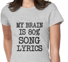 My Brain is 80% Song Lyircs Womens Fitted T-Shirt