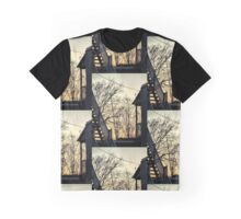 Early Sunset Pale Warm Orange Gold Grey Blue Colors  Graphic T-Shirt