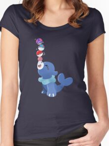 Balancing the balls Women's Fitted Scoop T-Shirt