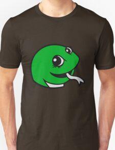 face head sweet little cute baby child snake comic cartoon girl T-Shirt