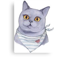 British Cat Canvas Print