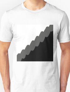 White, Black and Grey Unisex T-Shirt