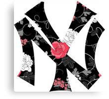 New York Yankees Flower Fanart Canvas Print