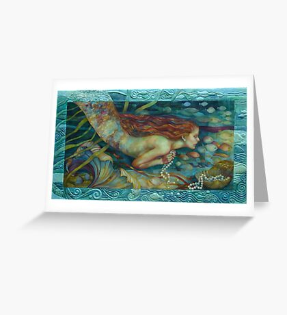 necklace of pearls Greeting Card