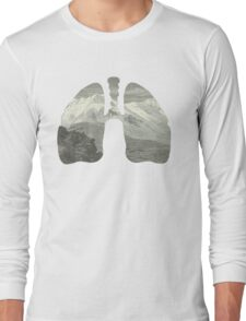 Mountains in my lungs Long Sleeve T-Shirt