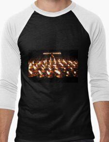 Tibetan Buddhist Butter Lamps Men's Baseball ¾ T-Shirt