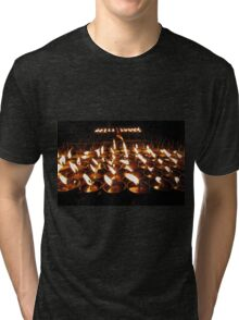 Tibetan Buddhist Butter Lamps Tri-blend T-Shirt