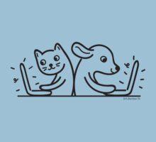 Cat & Dog Internet Users Kids Tee