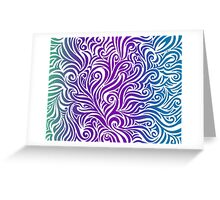 Colorful Squiggles Greeting Card