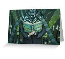 Books magic green Greeting Card